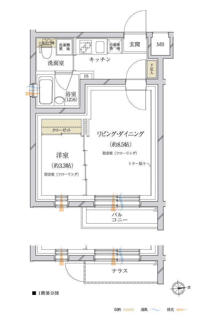 プロ蒲田 間取り図