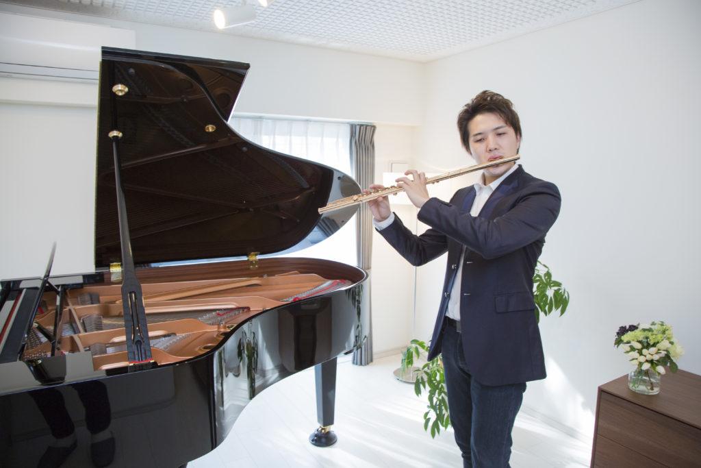 フルーティスト 上野 星矢さん「リハーサル・音楽教室として活用しています」